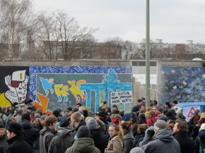 East Side Gallery protest on Friday March 1st.